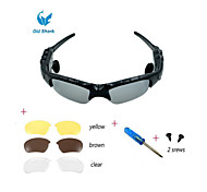 Oldshark® Wireless Music Sunglasses w/ Stereo Handsfree Bluetooth 4.0 Headset Headphone + 3 Pair Lens