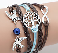 Men's Braided/Cord Leather Handmade Multilayer Charm Bracelet Unisex
