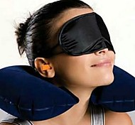 Creative Travel Rest (Neck Pillow + Eyeshade + Earplugs,Ramdon Color)