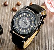 SOXY® Fashion Precise Business Black Plate Black Grind Arenaceous Strap Watch Quartz Watch for Men