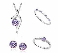 Bijoux Colliers décoratifs / Boucles d'oreille / Anneaux / Bracelet Quotidien / Décontracté Alliage 1set Femme Cadeaux de mariage