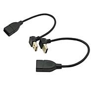 cy® männlichen USB 2.0 Umschlag und nach unten abgewinkelt, um männliche USB 2.0-Kabel 0,2 m (2 Stück)