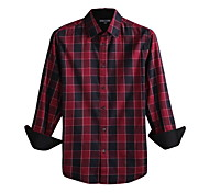 JamesEarl Men's Shirt Collar Long Sleeve Shirt & Blouse Red - DA112047201