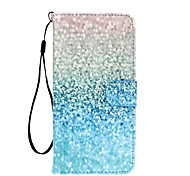 Green Sand Pattern PU Leather Full Body Case with Stand for iPhone 6S Plus