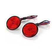 2pcs High Power Car Auto Vehicle Round Tail Rear Brake Stop Red Light Lamp Bulb 12V