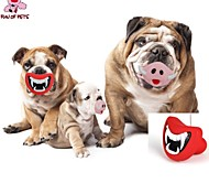 Dog Toy Pet Toys Chew Toy Lips Rubber Red Pink