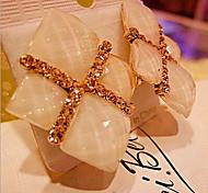 New Arrival Fashional Geometric Square Gem Earrings