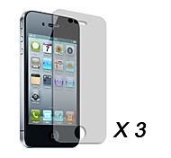 Clear Screen Protector Film for Apple iPhone 4/4s (3 pcs)