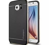 Para Funda Samsung Galaxy Antigolpes Funda Cubierta Trasera Funda Un Color Silicona Samsung S6