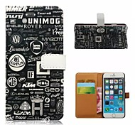 For iPhone 5 Case Card Holder / Wallet / with Stand / Flip / Pattern Case Full Body Case Black & White Hard PU Leather iPhone SE/5s/5