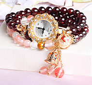 Women's Watch Natural Garnet Bracelet Fashion Watch women hand painted waterproof diamond agate trumpet Cool Watches Unique Watches