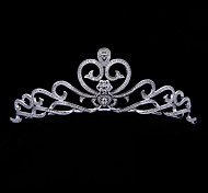 Exellent AAA CZ Tiara Heart Crowns Bridal Wedding  Hair Jewelry Accessories Party HeadpieceImitation Diamond Birthstone