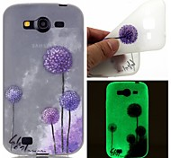 Purple Dandelion Luminous Dream Catcher Pattern Sofe TPU Case for Samsung Galaxy I9060/G530/G360/J3/J1 ACE/ON5/ON7
