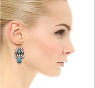 New Arrival Fashional Retro Rhinestone Gem Earrings