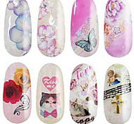 1pcs Floral  Nail Stickers