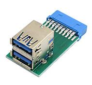 cy® Doppel weiblichen USB 3.0, um vertikale 20 pin pinboard