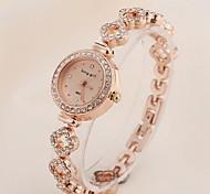 Mulheres Relógio de Moda Quartz Aço Inoxidável Banda Ouro Rose marca-