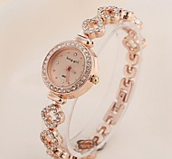 Mujer Reloj de Moda Cuarzo Acero Inoxidable Banda Oro Rosa Marca-