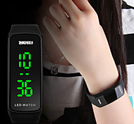 Frauen schlanke Design LED-Digital-Silikon-Uhr-