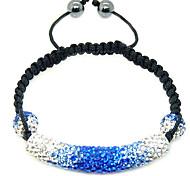 Crystal Jewelry Strand Beads Bracelets For Women color Crystal AB Clay Ball Bracelet&brangle charm xb-364