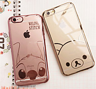 Plated Mobile Phone Shell Cartoon Picture Transparent Mobile Phone Shell For Iphone6/Iphone6s(Assorted Colors)