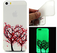 For iPhone 5 Case Glow in the Dark Case Back Cover Case Tree Soft TPU iPhone SE/5s/5