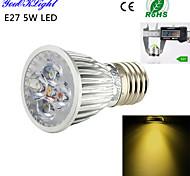 Spot LED Décorative Blanc Chaud YouOKLight 1 pièce A50 E26/E27 5W 5 LED Haute Puissance 450 LM AC 100-240 / AC 110-130 V