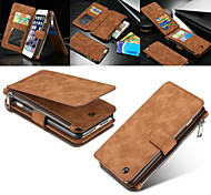 CASEME 2in1 Genuine Leather Zipper Wallet Card Slot Back Shell Case for iPhone 6s 6 Plus