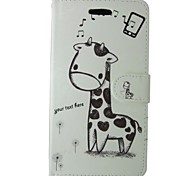 Giraffe Painted PU Phone Case for Huawei P8 Lite/P8/P7/Y550/Y530/G6