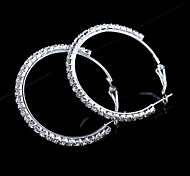 New Arrival Fashional Rhinestone Loop Earrings