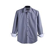 JamesEarl Men's Shirt Collar Long Sleeve Shirt & Blouse Blue - DA112046227