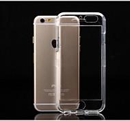 tampa de plástico transparente alinhou-pc para baixo escudo do telefone casca dura adequado para iphone 6s 6 mais