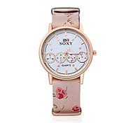 Relojes de pulsera de moda reloj característico de cuero reloj de pulsera de 2016 nueva mujer reloj relojes de los hombres únicos