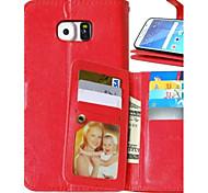 PU téléphone étui en cuir étui pour Samsung Galaxy S4 / S5 / S6 / S6 bord / bord S6 + (couleurs assorties)