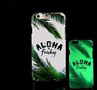 Trees Pattern Glow in the Dark Hard Plastic Back Cover for iPhone 6 for iPhone 6s Case