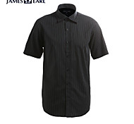 JamesEarl Men's Shirt Collar Short Sleeve Shirt & Blouse Taupe - M21X5000717