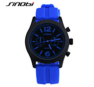 SINOBI Men's Sport Watch Wrist watch Water Resistant / Water Proof Sport Watch Quartz Silicone Band Blue