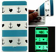 blu modello cuore banda TPU telefono luminoso per Nokia Lumia 540