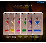 sanlead Doppelbecher-Tropf-PC mit Gummi und Sand Flüssigkeit zurück Fall für iphone6 plus, 6s plus (farblich sortiert)