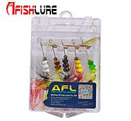 Anzuelo de cabeza de plomo / Cebos de pesca spinning / Cucharas / Cebo metálico / Lure Trolling 5 pcs , 2g g / 1/10 Onza , 60mm mm /