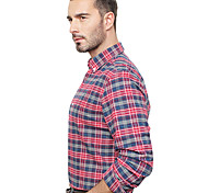 JamesEarl Men's Shirt Collar Long Sleeve Shirt & Blouse Red - DA192034201
