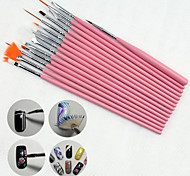 15PCS Nail Art Painting Pen Brush Kits Set