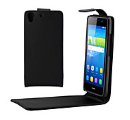 PU Leather Up Down Flip Mobile Skin Case Cover For Huawei Y6