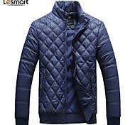 Lesmart Men's Stand Long Sleeve Down & Parkas Black / Green / Dark Blue - PW14079