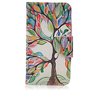 The Tree of Life Pattern Fashion PU Leather Case with Stand and Card Holder for Huawei Y560