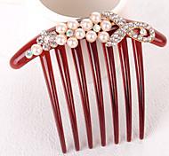 Z&X®Fashion  Pearl Hair Combs Wedding / Rhinestone Party / Daily 1pc