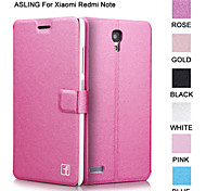 ASLING Protective Flip-Open PU Leather Case Full Body Credit Card Holder Slots Luxury Cell Phone Bag For Redmi Note