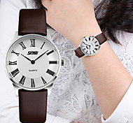 SKMEI® Couple's Luxury Slim Classic Leather Quartz Watch Cool Watches Unique Watches
