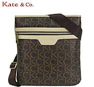 Kate & Co.® Women PVC Shoulder Bag Gray - TH-02232