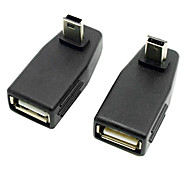 CY® OTG Turnup MINI USB to Female USB 2.0 Adapter